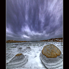 OMFG!!! Now THIS is Cold!!!!! (Dave the Haligonian) Tags: ocean sea snow canada ice water clouds bay frozen rocks novascotia atlantic maritime peggyscove prospect hdr vertorama omfgnowthisiscold dsc30757677787980hdr