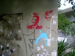 obama de perto (J P de Oliveira) Tags: graffiti stencil panda praa obama