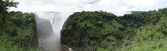 Victoria Falls as seen from Zambia