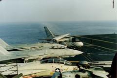 USS John F. Kennedy Deck (tabounds) Tags: f14 navy viking s3 kennedy tomcat