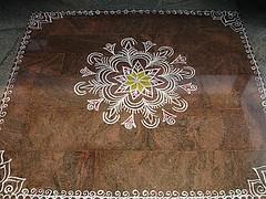 Traditional rangoli (nagashreenaveen) Tags: indian traditional mandala ritual hindu yantra kolam rangoli sudarshana homa rangavalli