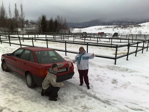 Car driving lessons in snowy Norway #5
