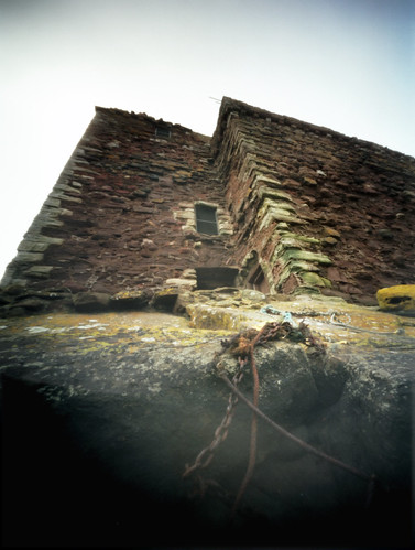 Pinhole image the castle from below 05Feb09