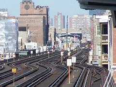 100_5145 (Mr. Montrose) Tags: railroad red brown chicago cta purple zoom belmont tracks el wellington rails l elevated diversey