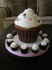 Destini's Pink and Chocolate Cupcake