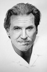 Jeff Bridges (pbradyart) Tags: portrait bw art pencil wow movie star sketch artwork drawing pencildrawing jeffbridges moviestardrawing filmstardrawing jeffbridgespencildrawing