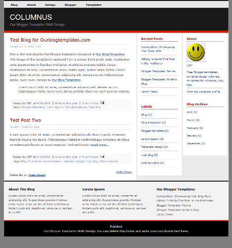 Daily Inspired free professional Blogger Template