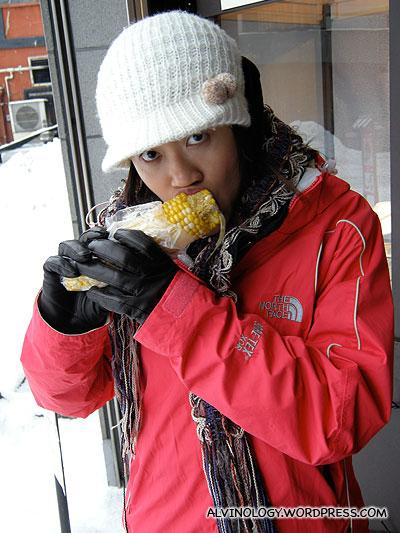 delicious two-colour corn