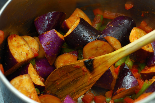 Eggplants with Curry