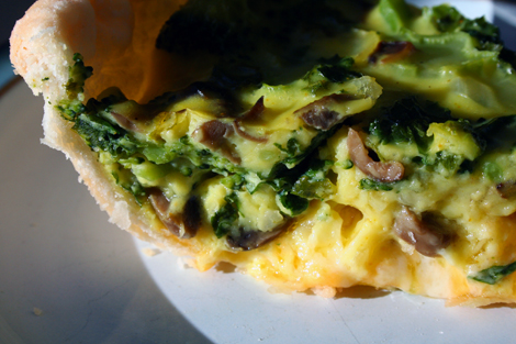 broccoli quiche..