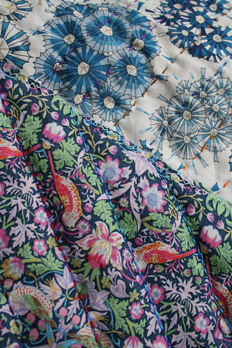 hand quilted liberty fabric