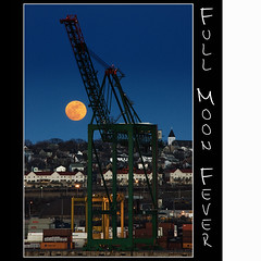 Full Moon Fever (Dave the Haligonian) Tags: nightphotography sunset copyright moon canada night lights pier dock novascotia crane dusk full container halifax atlanticocean fairview bedfordbasin fullmoonfever nikond90 davidsaunders dsc7235 davethehaligonian