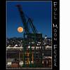 Full Moon Fever (Dave the Haligonian) Tags: nightphotography sunset copyright moon canada night lights pier dock novascotia crane dusk full container halifax atlanticocean fairview bedfordbasin fullmoonfever nikond90 davidsaunders dsc7235 davethehaligonian
