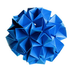 """Sea flower"" kusudama (steffi's) Tags: paper origami steffi craft modular diagram papel onwhite handicrafts papier carta papercraft modules seaflower modularorigami   kusudama  againstwhite flowerball uniformpolyhedron 30units   flowerkusudama diagramseaflower designedbysteffi designbysteffi"