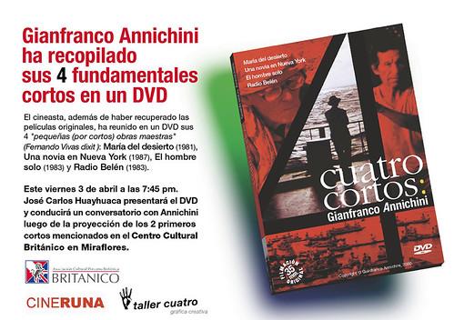 """Cuatro Cortos"" de Gianfranco Annichini"