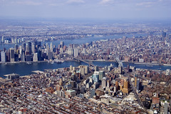 Brooklyn and Manhattan (Katy Silberger) Tags: newyorkcity newjersey manhattan brooklynheights aerial brooklynbridge manhattanbridge eastriver hudsonriver lowermanhattan brooklynny nikond60 abigfave