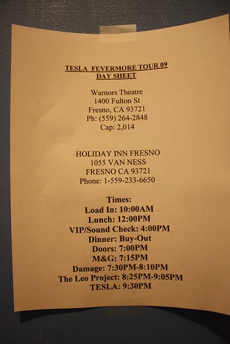 Tesla 4.1.09 Tesla band schedule.