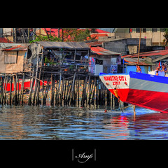 Navotas Fishing Village - Manila (@rup) Tags: sea water fishing village philippines manila stilts boatman swiming slums proverty