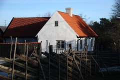 Gotland Pastoral (Let Ideas Compete) Tags: roof home farmhouse fence spring shadows sweden farm terracotta swedish april gotland scandinavia northern terra picturesque cotta stucco scandinavian bucolic whitewash grdesgrd
