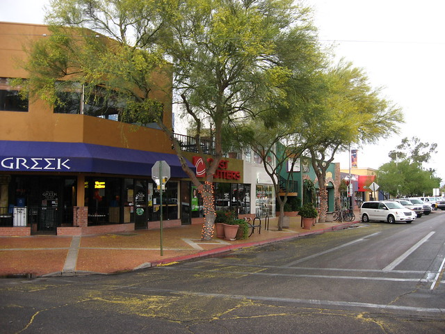 Commercial Area Across Street from University of Arizona by Ken Lund