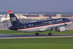 US Airways Shuttle Airbus A320-214 N106US (AV8NLVR) Tags: airplane airport charlotte aircraft aviation jet airbus canond30 a320 stockphoto usair usairways clt a320214 kclt n108uw bruceleibowitz 385964