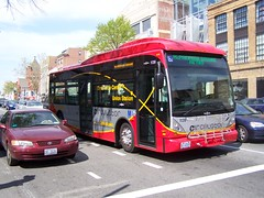 30 foot Circulator bus on 14th Street at P Street NW