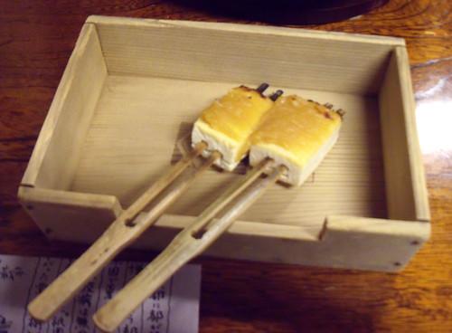 miso/tofu skewers