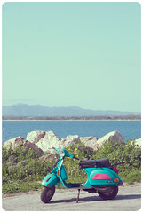 Sardegna (Y♥YNTL) Tags: sardegna italien pink blue wallpaper sky italy green primavera nature water point spring rocks europe italia sardinia torre scooter unfound lente italie sardinien mediterraneansea alghero sardinie blaauw sardigna maristella portoconte april2009 nikond80 middenlandsezee sardinnya