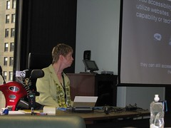 Glenda Watson Hyatt presentiing at SOBCon09, photo credit - Becky McCray