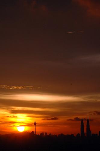 City at sundown
