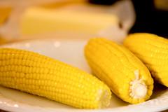 corn cob with butter hbw (AAA Studio) Tags: camera food yellow corn bokeh off butter cob flextt5