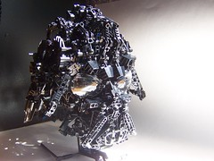 vader bionicle (monsterbrick) Tags: star lego bust darth wars vader darthvader bionicle moc greeble
