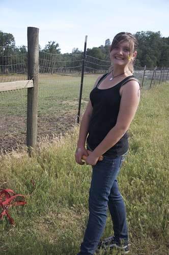 Our Cowgirl Heroine who nabbed the jailbreaking horses.