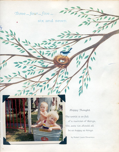 Baby Book Page - Swimming Pic