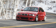 Winter Contrast (uberfoto) Tags: winter red car nikon bmw m3 smg rolling d3 e46 recaro imola moton uberfoto