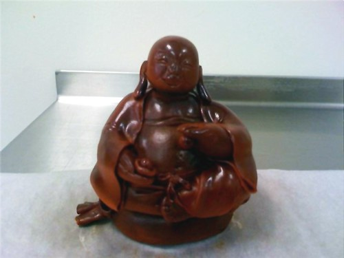 Fondant Lucky Buddha cake topper