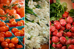 365_255 / French Market Veggies (DAJanzen) Tags: texture salad triptych frenchmarket openair garnish saturdaymorning freshvegetables nikond200 nikkor105mmf28gvrmicro diffusednaturallight leisurelypace downtownwheatonil gottacooksomething sightsandsoundsandsmells wanderthroughthebooths