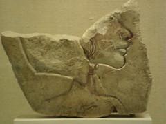 Trial Piece of A Royal Lady (meechmunchie) Tags: ancient egypt revolution egyptian 18thdynasty akhenaten tutankhamen ancientegypt tutankhamun tutankhamon thutmose newkingdom amarna tuthmose talatat akhetaten rammeside atenist egyptiancourt
