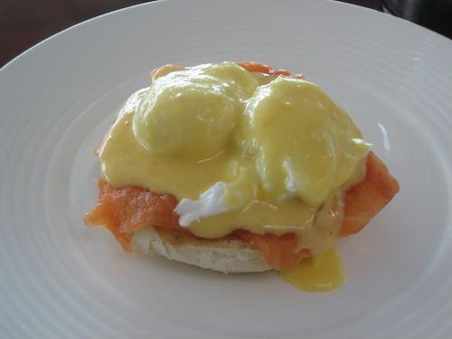 Eggs Norwegian at Gordon Ramsay Plane Food