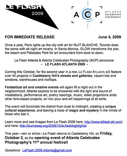 Le Flash 2009 - For Immediate Release