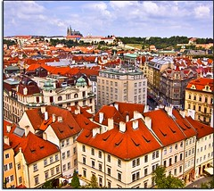 Time To Czech into Praha (Nathan Bergeron Photography) Tags: windows light castle skyline architecture clouds geotagged interestingness rooftops czech prague praha unesco worldheritagesite czechrepublic viewpoint charlesbridge oldtown oldtownsquare rollinghills stvituscathedral praguecastle redroofs oldtownhall starmsto explored oldtownhalltower yearinfrance geo:lat=50087068 geo:lon=14420671