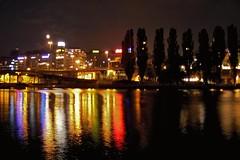 A quarter of night - Bir eyrek gece (Happy Jumper ()) Tags: longexposure light sea urban reflection water coast europe waterfront stockholm nighttime scandinavia stokholm deniz gece sahil avrupa yansma k iskandinavya aplusphoto