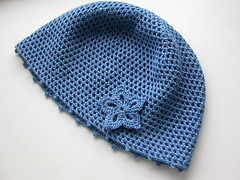 Шапочка Синий цветок - Blue flower hat