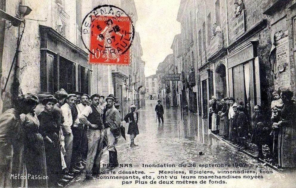 inondation du 26 septembre 1907 à Pézenas