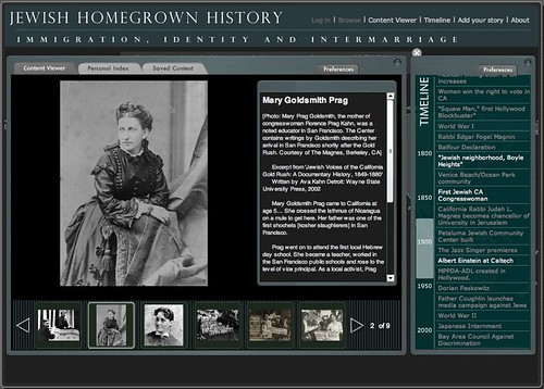 Jewish Homegrown History Web Portal