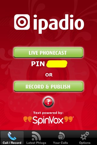 Phonecasting with iPadio: Live or Offline Recording
