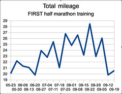 FIRST half marathon mileage