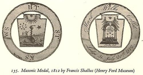 Masonic Medal by Francis Shallus, 1812