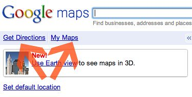 "Google MAps ""Get Directions"" and ""My Maps"""