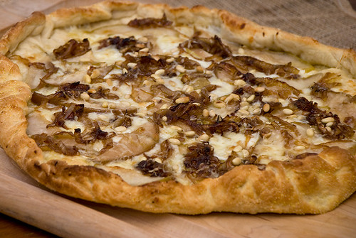 Pear and Caramelized Onion Pizza